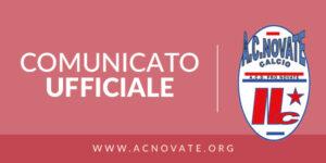 Comunicato Ufficiale ACD Pro Novate